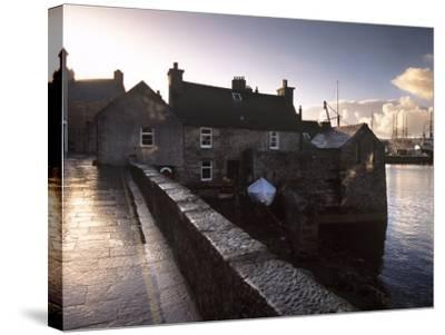 Lerwick Seafront, with Wharves and Slipways, Lerwick, Mainland, Shetland Islands, Scotland, UK-Patrick Dieudonne-Stretched Canvas Print