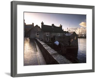 Lerwick Seafront, with Wharves and Slipways, Lerwick, Mainland, Shetland Islands, Scotland, UK-Patrick Dieudonne-Framed Photographic Print