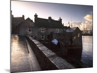 Lerwick Seafront, with Wharves and Slipways, Lerwick, Mainland, Shetland Islands, Scotland, UK-Patrick Dieudonne-Mounted Photographic Print