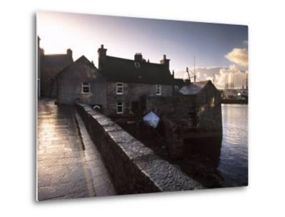 Lerwick Seafront, with Wharves and Slipways, Lerwick, Mainland, Shetland Islands, Scotland, UK-Patrick Dieudonne-Metal Print