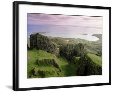 Table, Prison, the Quiraing, Trotternish, Isle of Skye, Highlands, Scotland, United Kingdom, Europe-Patrick Dieudonne-Framed Photographic Print