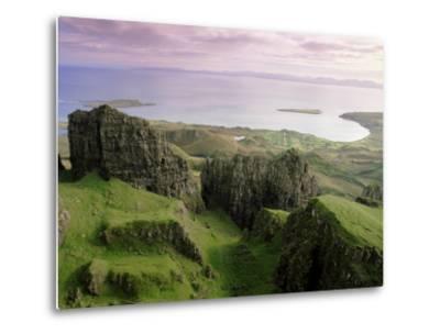 Table, Prison, the Quiraing, Trotternish, Isle of Skye, Highlands, Scotland, United Kingdom, Europe-Patrick Dieudonne-Metal Print