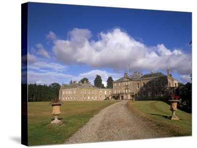 Haddo House, Elegant Country House, Georgian Exterior, Near Tarves, Aberdeenshire, Scotland, UK-Patrick Dieudonne-Stretched Canvas Print