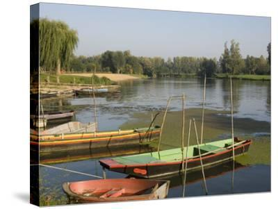 Punts in the Loire Valley, France, Europe-James Emmerson-Stretched Canvas Print