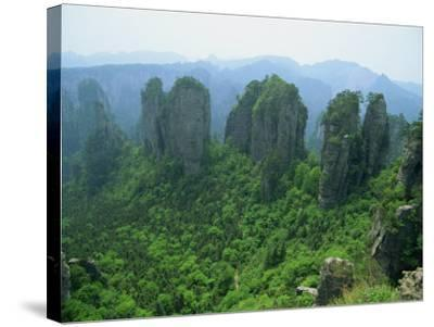 Zhangjiajie Forest Park in Wulingyuan Scenic Area in Hunan Province, China-Robert Francis-Stretched Canvas Print