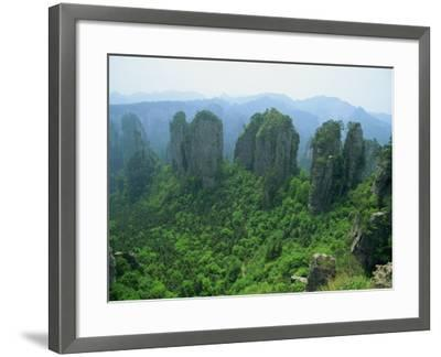 Zhangjiajie Forest Park in Wulingyuan Scenic Area in Hunan Province, China-Robert Francis-Framed Photographic Print