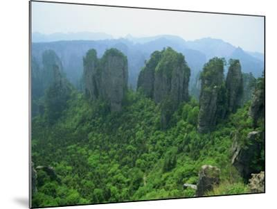 Zhangjiajie Forest Park in Wulingyuan Scenic Area in Hunan Province, China-Robert Francis-Mounted Photographic Print