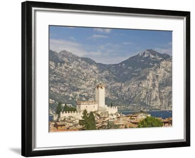 View over Malcesine and the Scaligero Castle, Lake Garda, Veneto, Italy, Europe-James Emmerson-Framed Photographic Print
