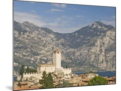 View over Malcesine and the Scaligero Castle, Lake Garda, Veneto, Italy, Europe-James Emmerson-Mounted Photographic Print