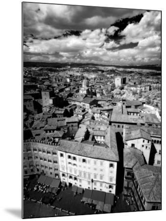 Infra Red Image of Siena across Piazza Del Campo from Tower Del Mangia, Siena, Tuscany, Italy-Lee Frost-Mounted Photographic Print