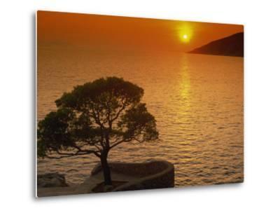 Sunset, Sveta Nedelja, Hvar Island, Croatia, Europe-Ken Gillham-Metal Print