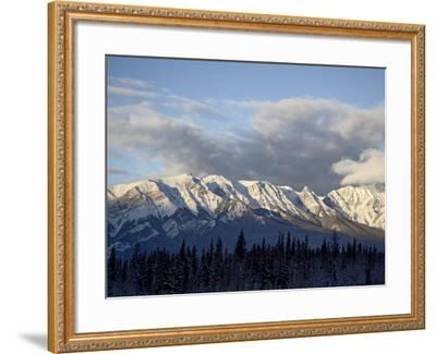 Bosche Range in Winter, Jasper National Park, Rocky Mountains, Alberta, Canada-James Hager-Framed Photographic Print
