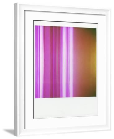 Polaroid of Colourful Stripes Created by Coloured Fluorescent Tubes-Lee Frost-Framed Photographic Print