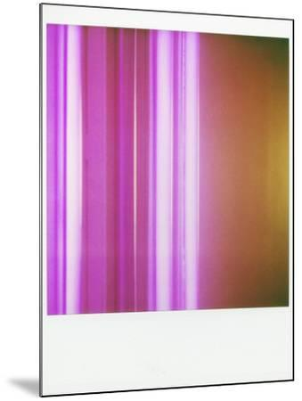 Polaroid of Colourful Stripes Created by Coloured Fluorescent Tubes-Lee Frost-Mounted Photographic Print