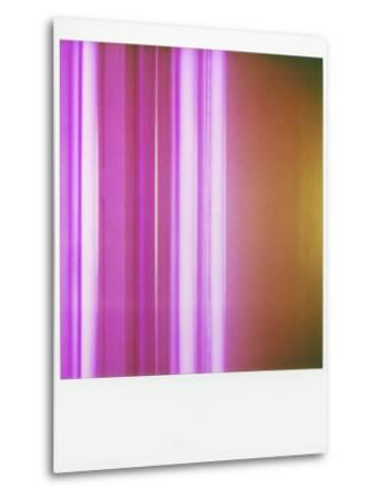 Polaroid of Colourful Stripes Created by Coloured Fluorescent Tubes-Lee Frost-Metal Print