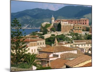 Skyline of the Town on the Island of Elba, in the Toscana Archipelago, Italy, Europe-Ken Gillham-Mounted Photographic Print