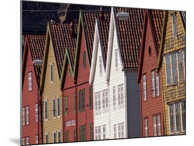 Detail of Traditional Housing Facades on the Quayside, Bergen, Norway, Scandinavia, Europe-Ken Gillham-Mounted Photographic Print