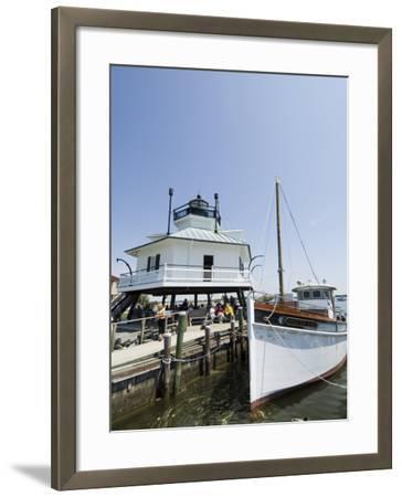 Chesapeake Bay Maritime Museum, Miles River, Chesapeake Bay Area, Maryland, USA-Robert Harding-Framed Photographic Print