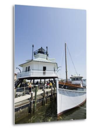 Chesapeake Bay Maritime Museum, Miles River, Chesapeake Bay Area, Maryland, USA-Robert Harding-Metal Print