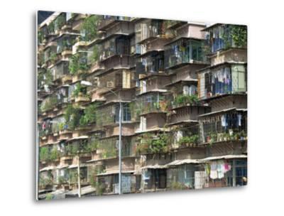 Detail of Housing, Guangzhou, China-Tim Hall-Metal Print