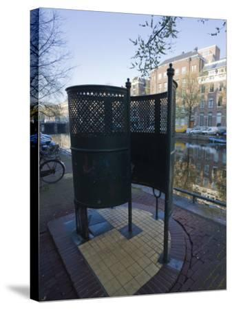 Old Fashioned Outdoor Lavatory or Pissoir, Amsterdam, Netherlands, Europe-Amanda Hall-Stretched Canvas Print