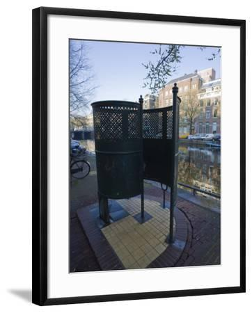 Old Fashioned Outdoor Lavatory or Pissoir, Amsterdam, Netherlands, Europe-Amanda Hall-Framed Photographic Print