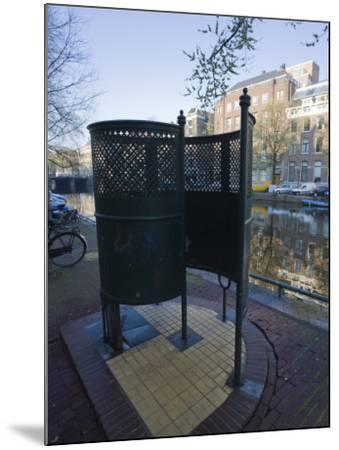 Old Fashioned Outdoor Lavatory or Pissoir, Amsterdam, Netherlands, Europe-Amanda Hall-Mounted Photographic Print