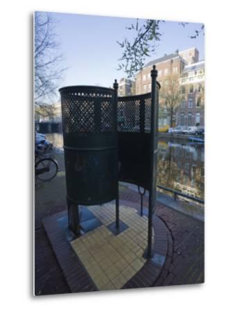 Old Fashioned Outdoor Lavatory or Pissoir, Amsterdam, Netherlands, Europe-Amanda Hall-Metal Print