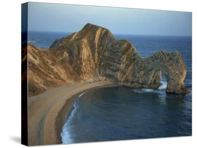 Purbeck Limestone Arch, Durdle Door, Near Lulworth, Dorset Coast, England, United Kingdom, Europe-Dominic Harcourt-webster-Stretched Canvas Print