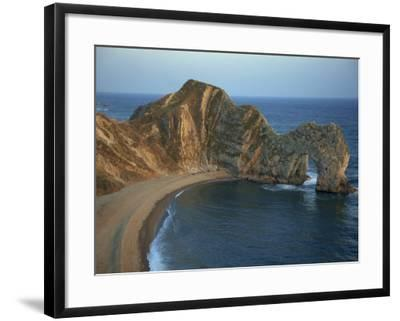 Purbeck Limestone Arch, Durdle Door, Near Lulworth, Dorset Coast, England, United Kingdom, Europe-Dominic Harcourt-webster-Framed Photographic Print