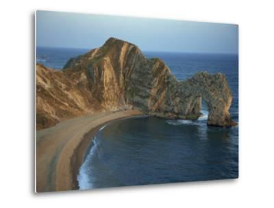 Purbeck Limestone Arch, Durdle Door, Near Lulworth, Dorset Coast, England, United Kingdom, Europe-Dominic Harcourt-webster-Metal Print
