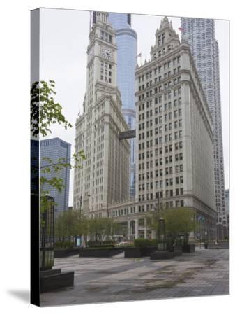 Wrigley Building, North Michigan Avenue, the Magnificent Mile, Chicago, Illinois, USA-Amanda Hall-Stretched Canvas Print