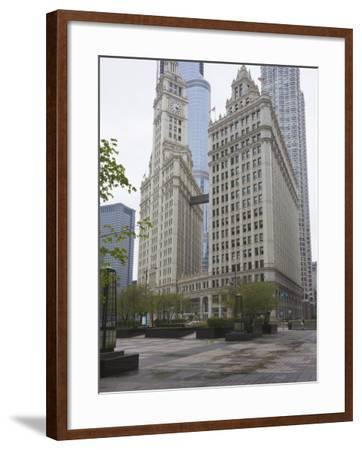 Wrigley Building, North Michigan Avenue, the Magnificent Mile, Chicago, Illinois, USA-Amanda Hall-Framed Photographic Print