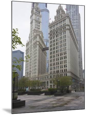 Wrigley Building, North Michigan Avenue, the Magnificent Mile, Chicago, Illinois, USA-Amanda Hall-Mounted Photographic Print