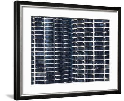 Close-Up of Marina City's Twin Towers, Chicago, Illinois, United States of America, North America-Amanda Hall-Framed Photographic Print