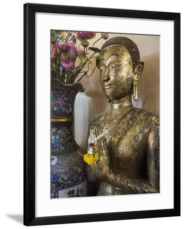 Buddha at Sukhothai Traimit Temple, Bangkok, Thailand, Southeast Asia-Robert Harding-Framed Photographic Print