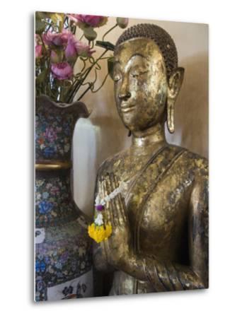 Buddha at Sukhothai Traimit Temple, Bangkok, Thailand, Southeast Asia-Robert Harding-Metal Print