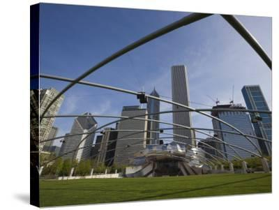 Jay Pritzker Pavilion Designed by Frank Gehry, Millennium Park, Chicago, Illinois, USA-Amanda Hall-Stretched Canvas Print