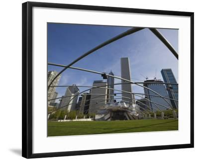 Jay Pritzker Pavilion Designed by Frank Gehry, Millennium Park, Chicago, Illinois, USA-Amanda Hall-Framed Photographic Print