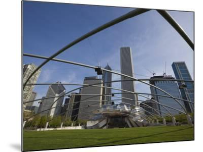 Jay Pritzker Pavilion Designed by Frank Gehry, Millennium Park, Chicago, Illinois, USA-Amanda Hall-Mounted Photographic Print