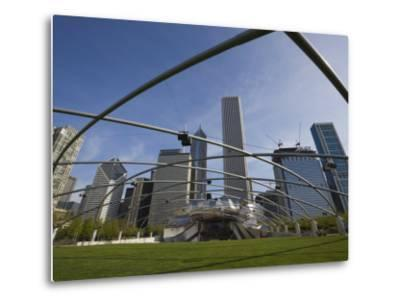 Jay Pritzker Pavilion Designed by Frank Gehry, Millennium Park, Chicago, Illinois, USA-Amanda Hall-Metal Print