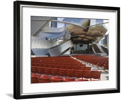 Jay Pritzker Pavilion Designed by Frank Gehry, Millennium Park, Chicago, Illinois, USA-Amanda Hall-Framed Photographic Print