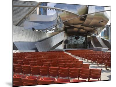 Jay Pritzker Pavilion Designed by Frank Gehry, Millennium Park, Chicago, Illinois, USA-Amanda Hall-Mounted Photographic Print