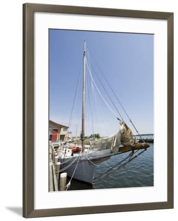 Skipjack Sailing Boat, Chesapeake Bay Maritime Museum, St. Michaels, Maryland, USA-Robert Harding-Framed Photographic Print