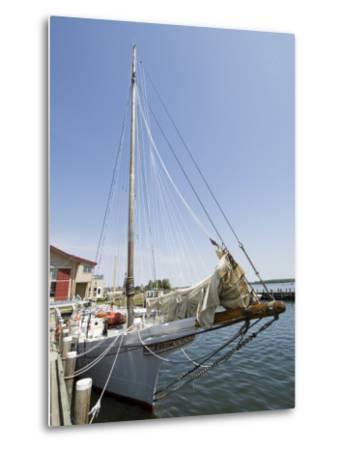Skipjack Sailing Boat, Chesapeake Bay Maritime Museum, St. Michaels, Maryland, USA-Robert Harding-Metal Print