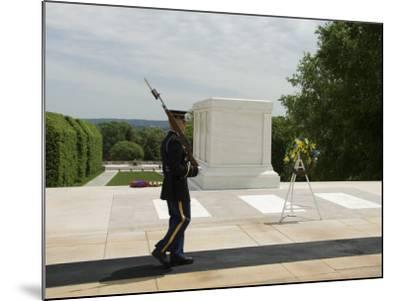 Guard at the Tomb of the Unknown Soldier, Arlington National Cemetery, Arlington, Virginia, USA-Robert Harding-Mounted Photographic Print