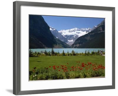 Lake Louise with the Rocky Mountains in the Background, in Alberta, Canada, North America-Robert Harding-Framed Photographic Print