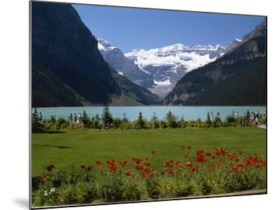 Lake Louise with the Rocky Mountains in the Background, in Alberta, Canada, North America-Robert Harding-Mounted Photographic Print