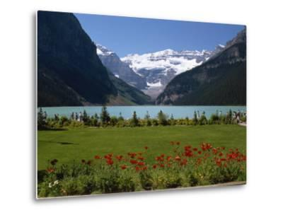 Lake Louise with the Rocky Mountains in the Background, in Alberta, Canada, North America-Robert Harding-Metal Print