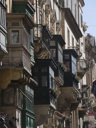 Typical Windows, Valletta, Malta, Europe-Robert Harding-Framed Photographic Print